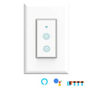 Used Smart WIFI Light Switch  3-Way or Single Pole Remote Alexa Google Home