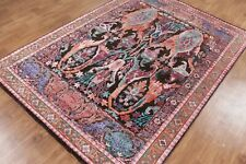 New Multi color ikat 5'7''x7'10'' Durable Hand Knotted Vintage Oxidize Area Rugs