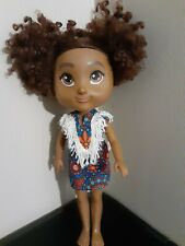 Backpets Corinne African American Doll Curly short hair Brown Eyes Pre-owned