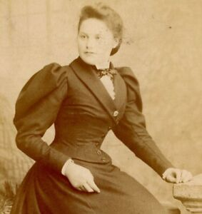 Antique Cabinet Card Photograph Victorian lady A & G Taylor Liverpool #1 fashion