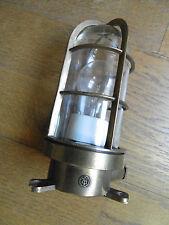 APPLIQUE DE COURSIVE  BRONZE Lampe Marine Industriel loft Vintage Cargo