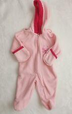 *okie-doki* baby girls Pink fleece snowsuit Size 3-6M New!