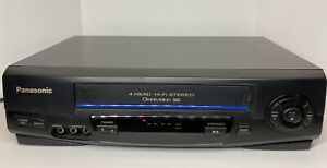 Panasonic PV-V4521 A VCR VHS Player Black 4 head HiFi Omnivision Without Remote