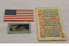 Free Ship!  Marines' Hymn Postcard, American Flag Decal, Wright Brothers Card