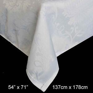 Damask Jacquard Print Tableware - Tablecloths, Runners, Napkins - 3 Colours