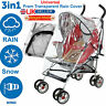 NEW WATERPROOF UNIVERSAL BUGGY PUSHCHAIR STROLLER PRAM TRANSPARENT RAIN COVER UK