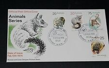 AUSTRALIA 1974 ANIMALS SET OF 4 ON A/P FIRST DAY COVER UNADDRESSED
