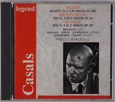 PABLO CASALS: Mozart, Quartet, Trio Cello, Menuhin RARE Legend CD Live Recording