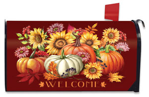 Fall Beauty Floral Magnetic Mailbox Cover Welcome Autumn Standard Briarwood Lane