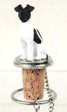 Fox Terrier Black And White Dog Wine Stopper