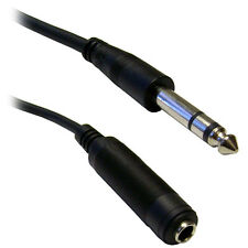 10ft 1/4 inch Stereo Extension Cable TRS Balanced Male to Female  10A1-62210