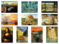 Most famous Paintings of all time Art Masterpieces Print Poster A3 or A4 POSTERS