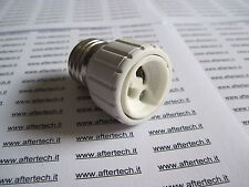 ADATTATORE DA GU10 A E27 LAMPADINE LED E ALOGENE CONVERTITORE RIDUTTORE E2B4