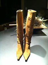 Kenneth Cole New York Camel / Tan Soft Suede Knee High Boots 35 or 5 M