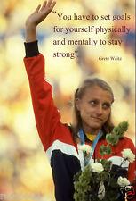 Grete Waitz Poster/Woman's New York Marathon Winner/Running/Runner