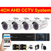 2.0MP 4CH AHD DVR CCTV 1080P HD Outdoor Home Network Security Camera System Kit