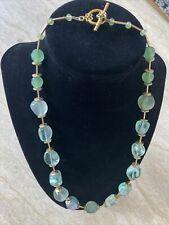 semi precious beads Necklace  Light Green