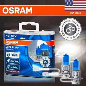 H3 453 OSRAM COOL BLUE ADVANCE Bulbs DuoBox +50% 5000K MEGA WHITE for FRONT FOG