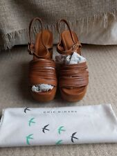 Chie Mihara for Toast tan suede wedges Heel UK 7 EU 40