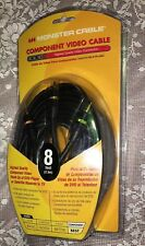 Monster 24K Gold Contacts 8ft. Component Video Home Theater Cable NEW
