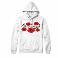Lest We Forget Hoodie, Poppy Flower Soldiers Armed Forces Remembrance Day Gift