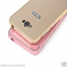 Luxury Aluminum Metal Bumper with Mirror Back Cover For Asus Zenfone Max ZC550KL