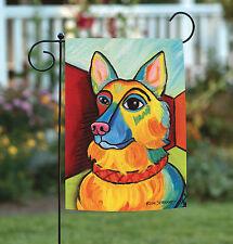 New Toland - Pawcasso German Shepherd - Puppy Dog Portrait Garden Flag