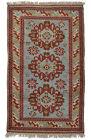 Vintage Turkish Balikesir Rug, 4'x6', Blue, Hand-Knotted Wool Pile
