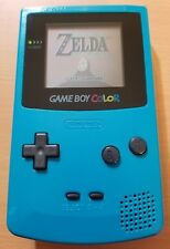 Nintendo Gameboy Color CGB-001 Teal + Zelda Green LED Glass lens New speaker