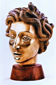 BRONZE BUST OF MEDUSA, MIGUEL ANGELO SILVA, ONE OF FINES