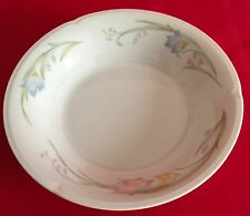 French Garden Porcelain China Japan Flower Pink Blue Yellow Sauce Berry Bowl