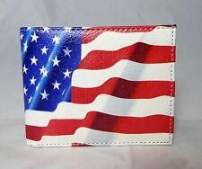 American Star Flag  Men's Genuine Leather Wallet