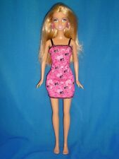 Blonde Barbie & Pink Dress ~ Belly Button & Beach Feet Type ~ Straight Arms/Legs