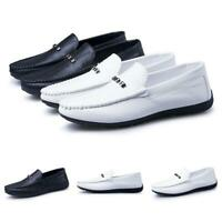 Men's Slip On Moccasins Leisure Loafer Driving Breathable Leather Flat Shoes