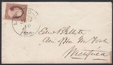 U.S., 1860. Cover 26, Lenox -  Westfield, Ms