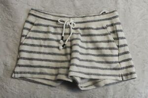 Old Navy Women's French Terry Drawstring Striped Shorts CB6 Cream/Blue Size XS
