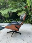 Herman Miller Eames Lounge Chair Cherry Wood   Black Leather