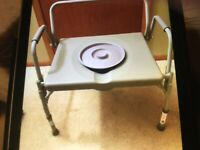 Commode Chair Bedside Toilet Medical Adult Portable Potty Safety Frame Shower