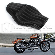 2-up Driver Passenger Tour Seat For Harley Sportster XL 883 1200 Iron 48 Black