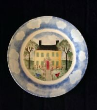 Nikko REMEMBER WHEN House Salad Dessert Plate Deb Mores Blue Cloud Kids 1999