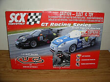 SCX COMPACT GT RACING SERIES HIGH-SPEED RACING 1:43 SLOT RACING TRACK AND CARS