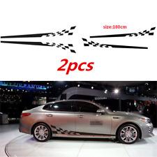 2pcs/set Auto Race Check Flag Car Decal Vinyl Graphics Side Sticker Body Sticker