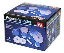 Vakuum System 16 Teilig - Frischhalteboxen + Vakuumpumpe + Flaschenverschluss
