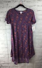 LuLaRoe, NEW With Tags; Carly Dress, Small S; Pink And Purple Diamond Print