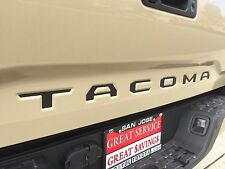 2016-2017 Toyota Tacoma Premium Matte Black Vinyl Decal Tailgate Letters Inserts