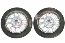 """New 2 Complete Front Rear 16"""" 36 Holes Wheel Rim With Tyre Tube for Jawa CAD"""