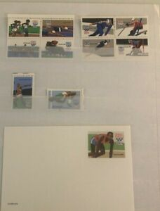 Collection Of USA Olympic Mint Collection  One First Day Rowing  Stamps Nh F-17