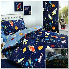 Bedlam Supersonic Glow In The Dark Space Rockets Duvet Cover Bedroom Collection