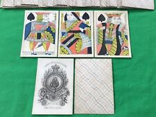 More details for old antique 1830 hardy square corner playing cards kartenspielen standing courts