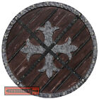 Knights Templar Roman Crusader Medieval Cross Fleury Warrior Wooden Shield LARP